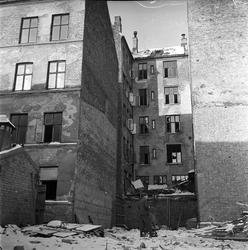 Bogstadveien, Oslo, 15.02.1963. Det rives i Oslo. Bakgårdsby