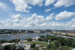 Nordiska museet, utsikt över Stockholm från tornet på museib