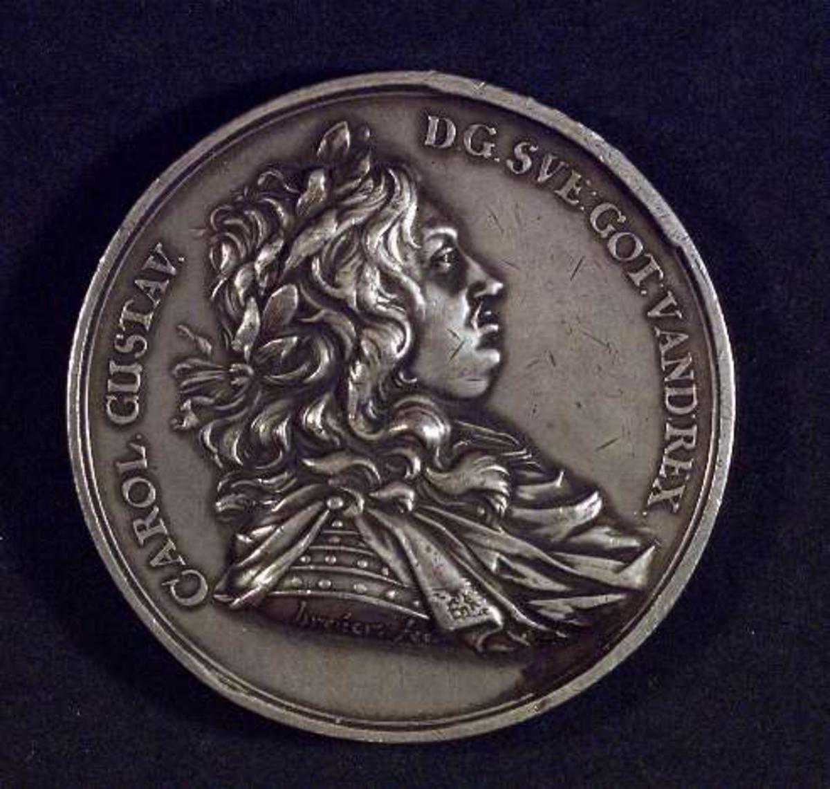 Byst av kung Karl X Gustav.
