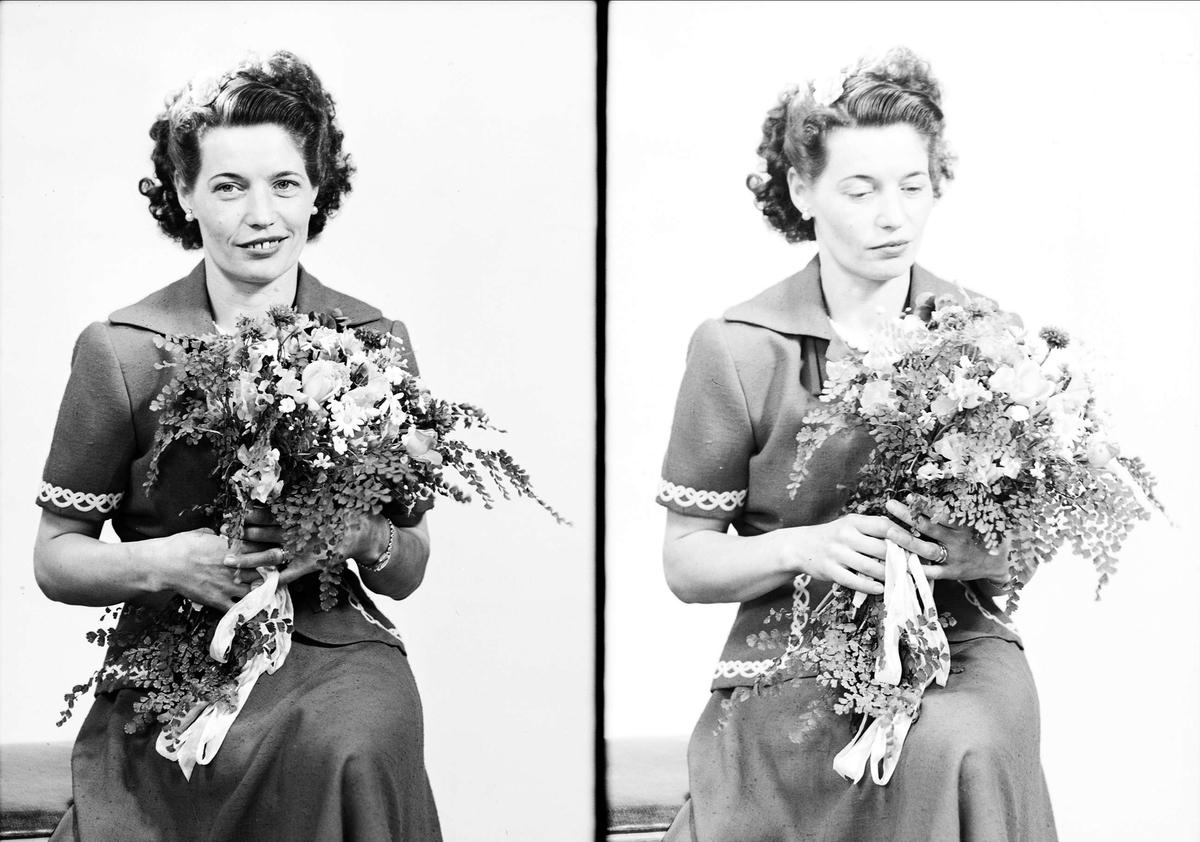 Ateljéporträtt - A Eriksson, Uppsala juni 1949