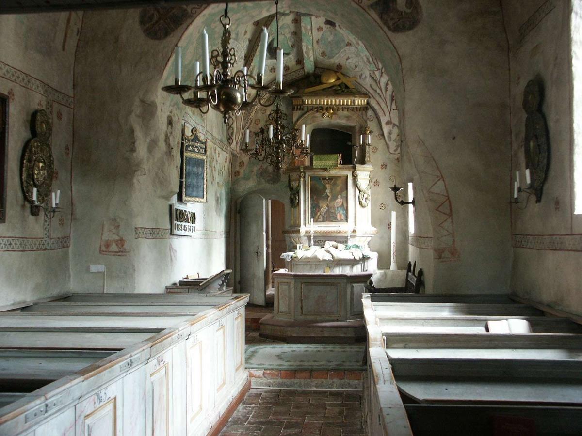 Interiör i Yttergrans kyrka, Uppland 2005