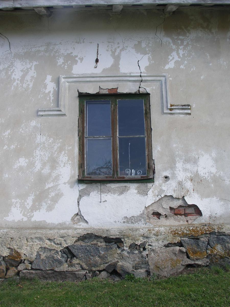 Fönster på bostadshus, Svannäs gård, Övergrans socken, Uppland 2005