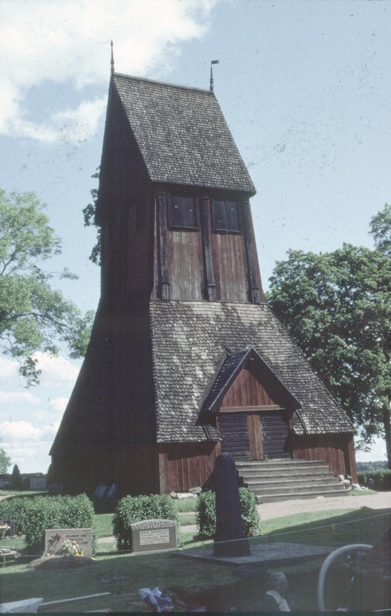 Klockstapeln vid Gamla Uppsala kyrka - Arkeologi Gamla Uppsala 1982