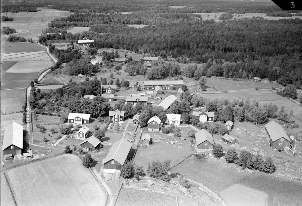 Flygfoto över Bolka, Börstils socken, Uppland 1936