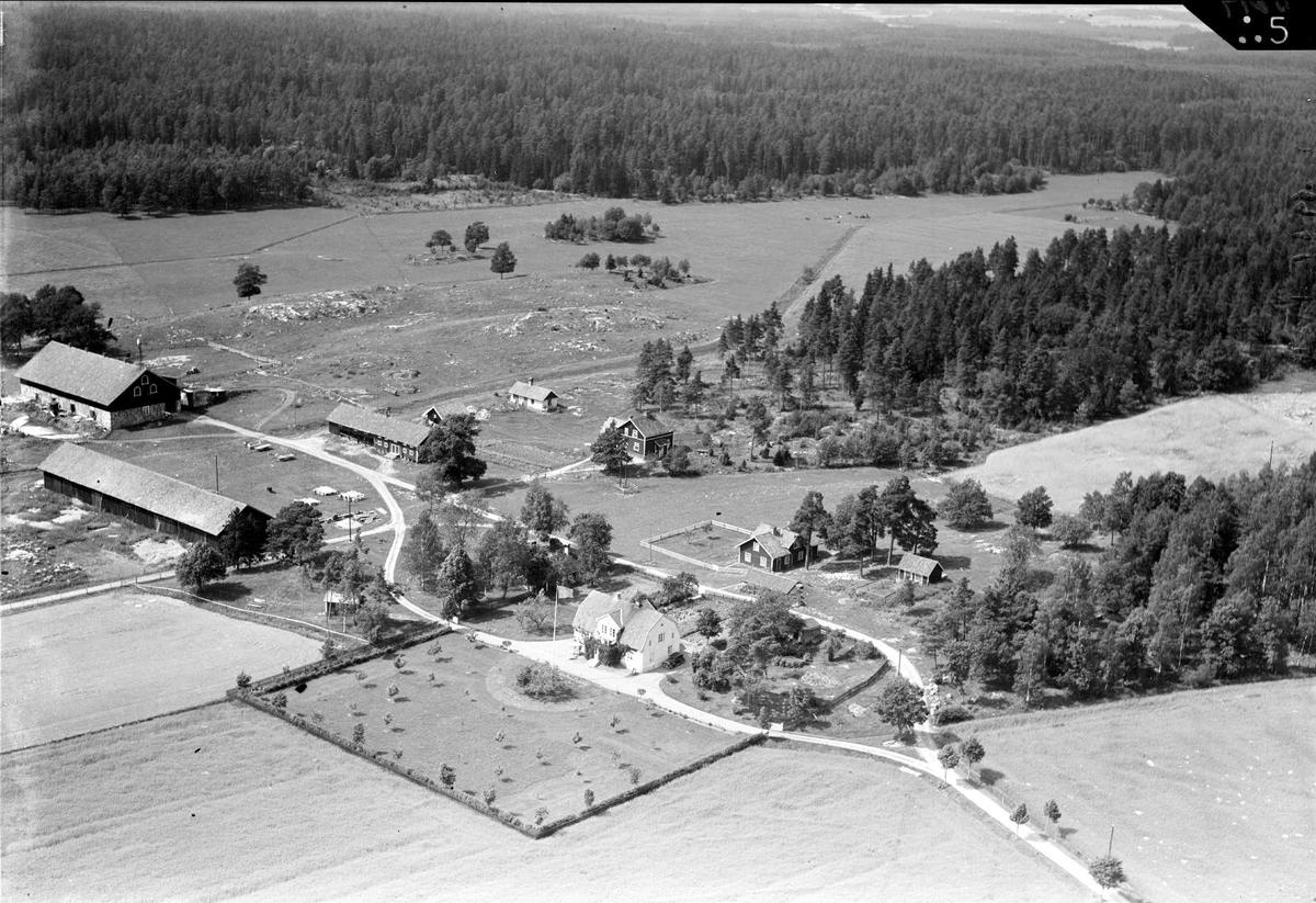 Flygfoto över Strömsäng, Husby-Sjutolfts socken, Uppland 1938