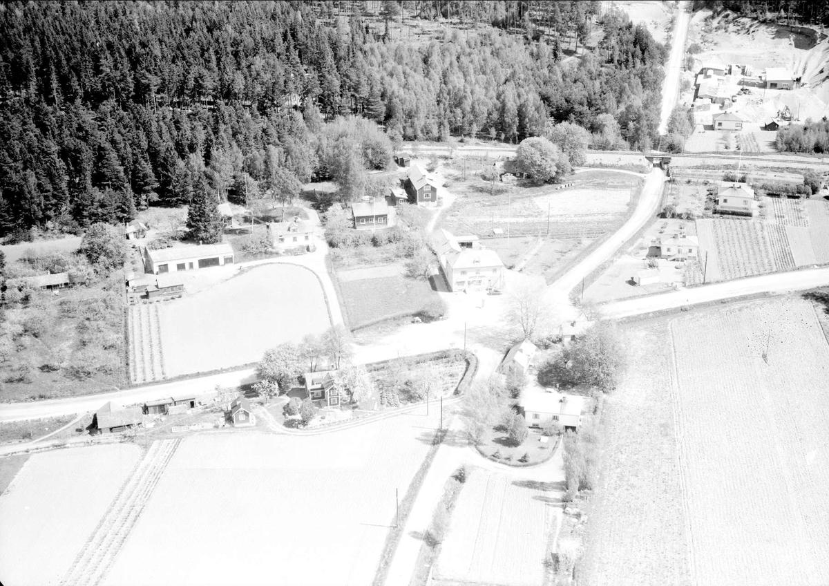 Flygfoto över Kalmarsand, Kalmars socken, Uppland 1955