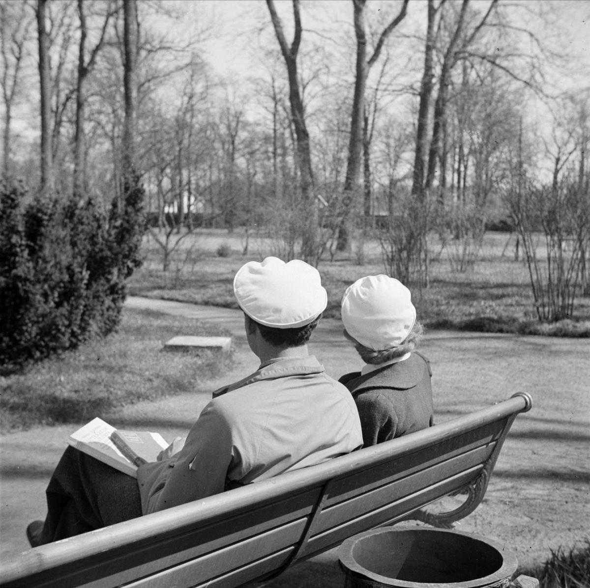 Studenter i Botaniska trädgården, Uppsala 1939