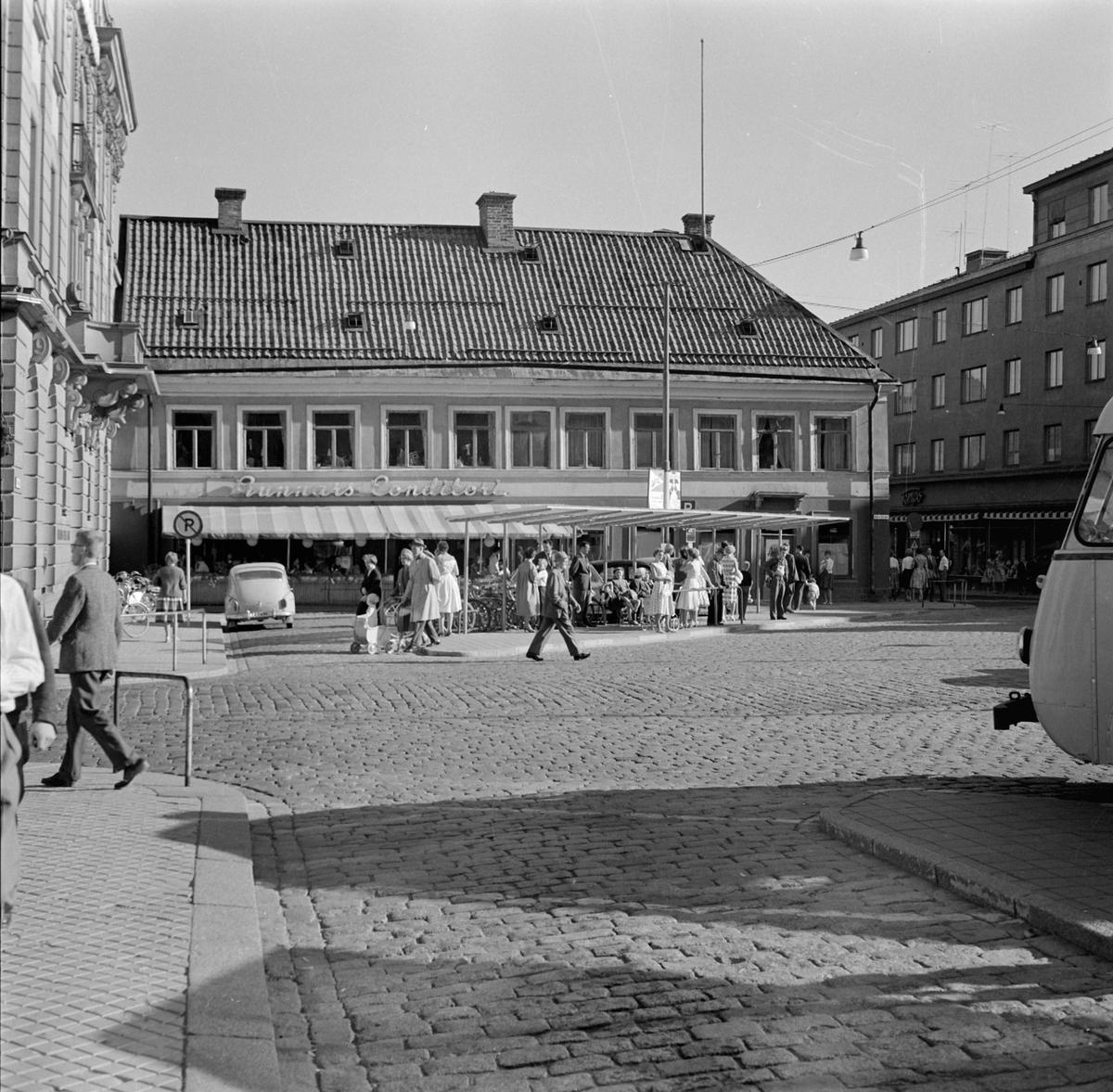 Scheelehuset vid Stora Torget i kvarteret Lejonet, Dragarbrunn, Uppsala 1959