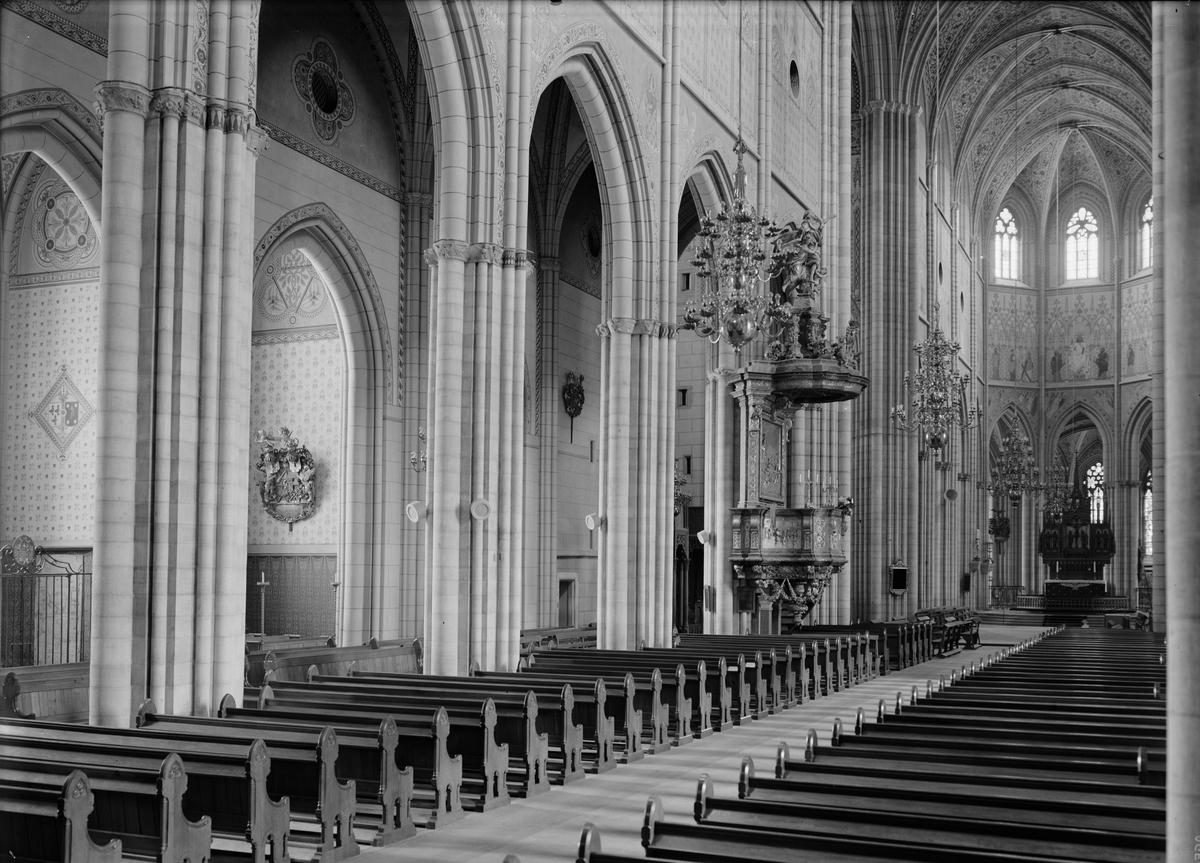 Interiör i Uppsala domkyrka, Uppsala 1941