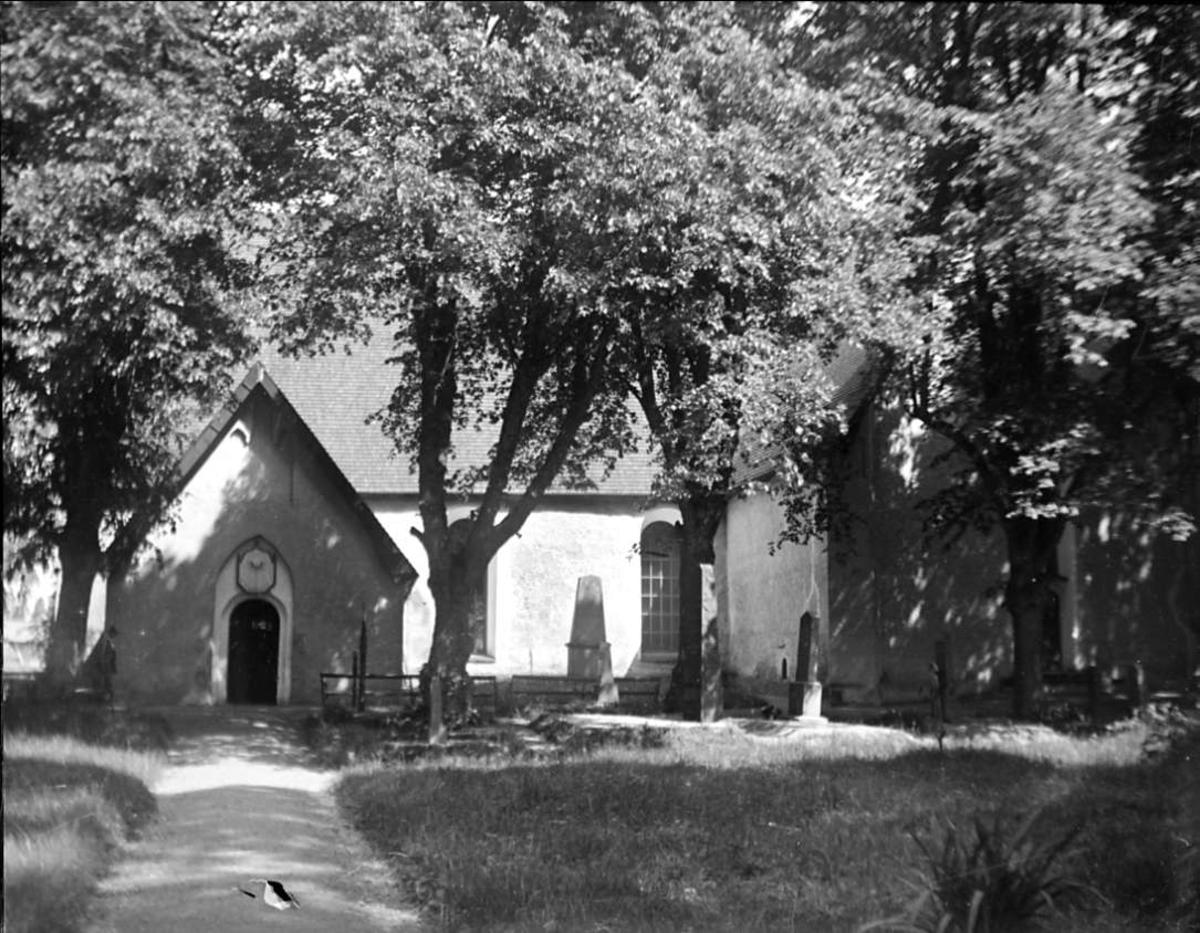 Veckholms kyrka, Veckholms socken, Uppland i juni 1925