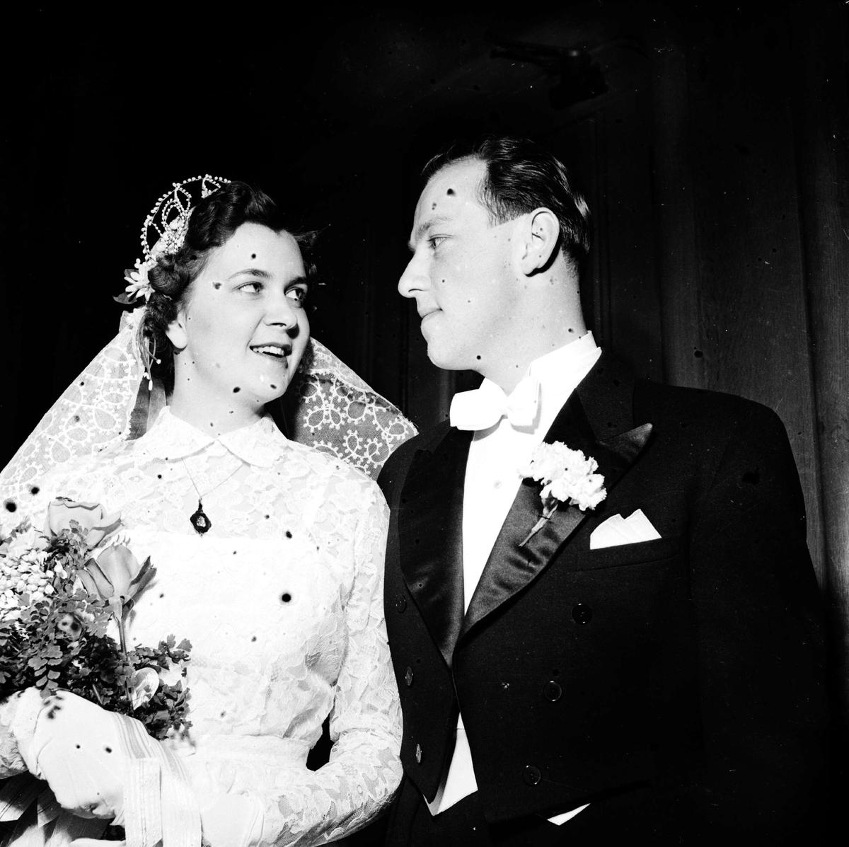 Bröllop - brudpar sommaren 1952