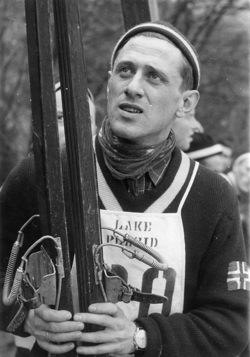 Petter Hugsted in Lake Placid 1950.