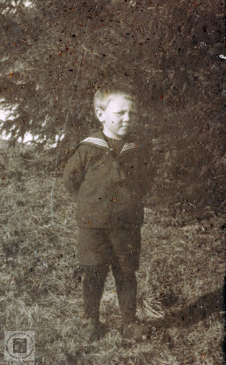 Portrett av Ola Aagedal som liten gutt. Grindheim.