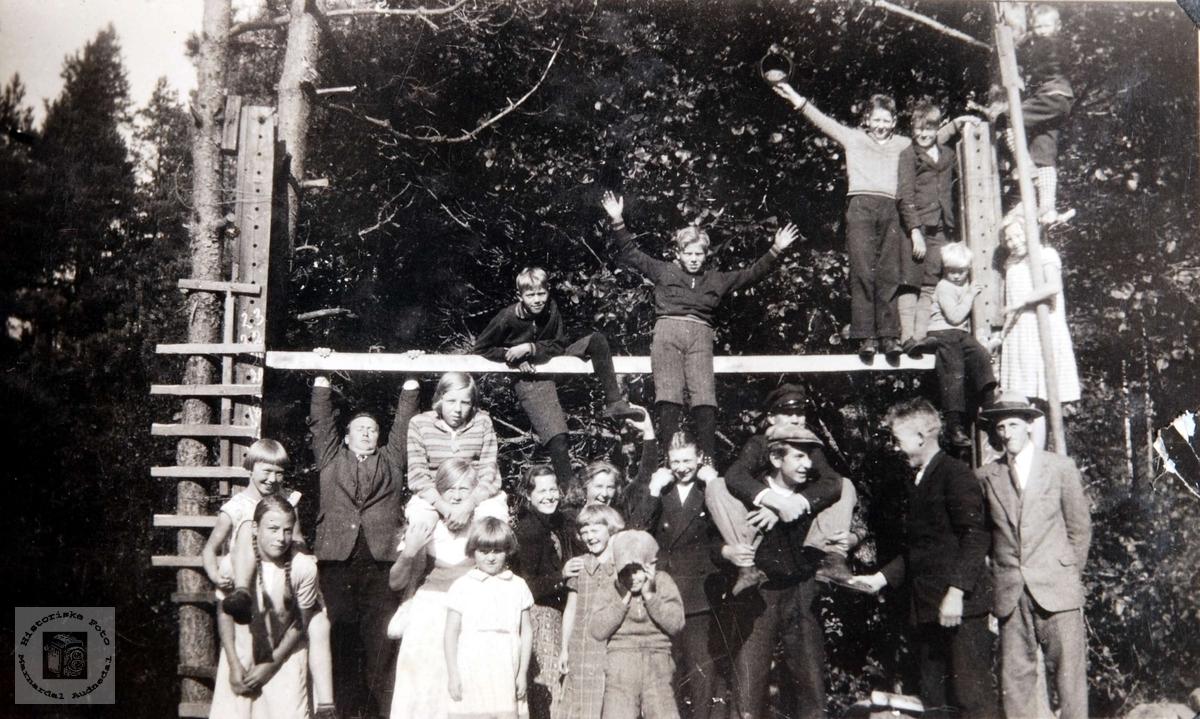 Gymnastikkapparat på Ågedal skole i Bjelland (senere Audnedal).