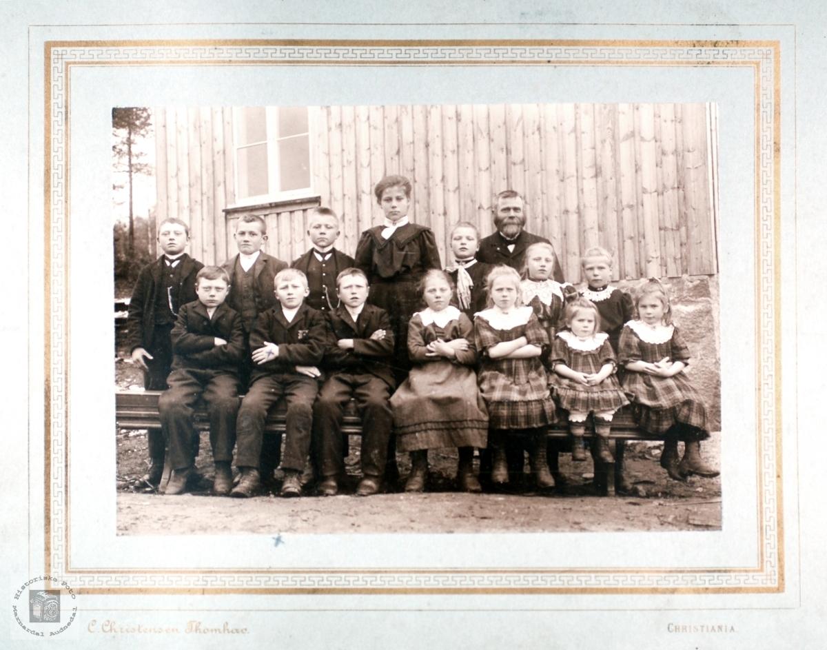 Strisland skole 1910. Audnedal.