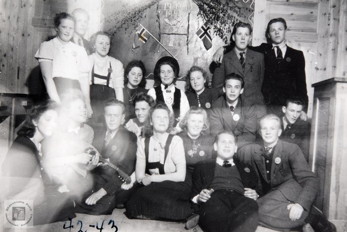 17. mai feiring under krigen på Ågedal Bedehus. Bjelland senere Audnedal.