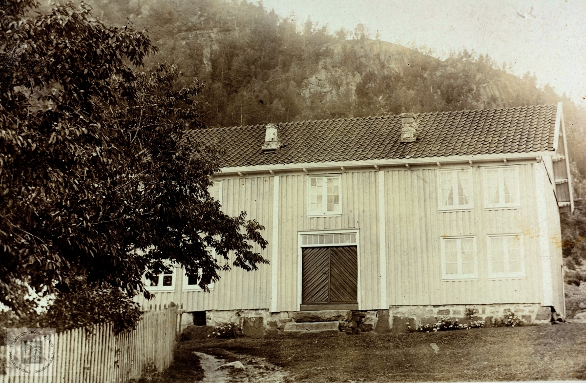 Gamlehuset på Nedre Kleivsvodden Ytre Øydna. Grindheim Audnedal.