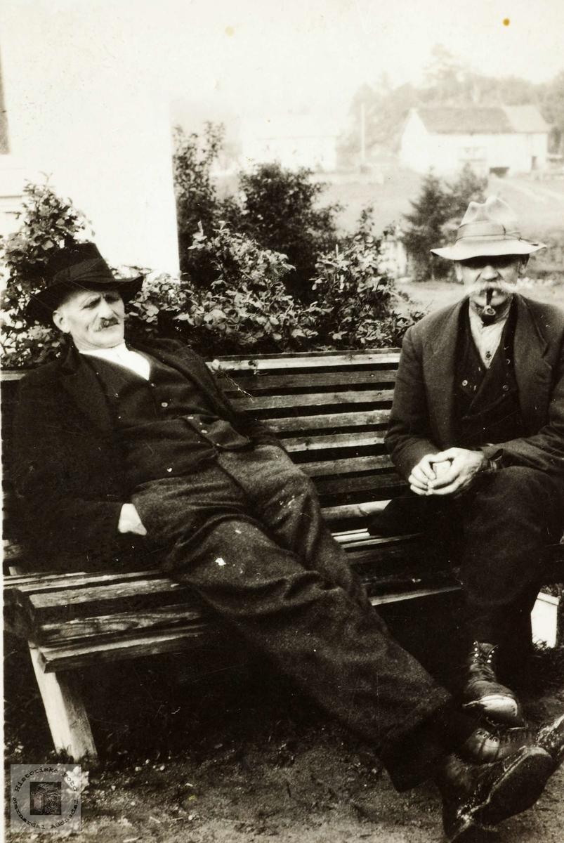 Torkel Leland og Theodor Ågedal, de to eldste fra Leland. Grindheim Audnedal.