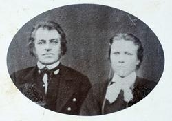 Portrett av ekteparet Halvor og Marthe Flottorp. Grindheim H