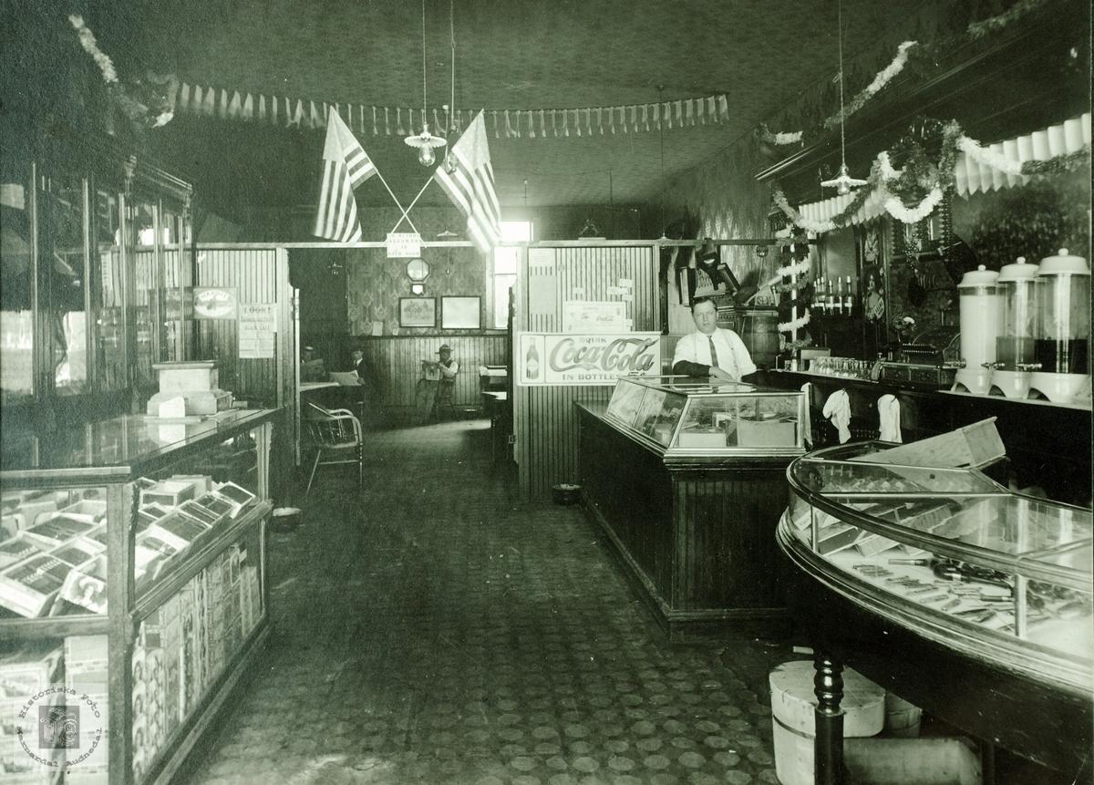 Paulsons Soft Drinks Store. Interiør. USA.