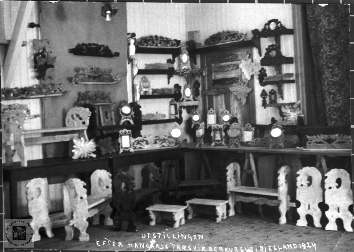 Treskjerarkurs i Bjelland i 1924.