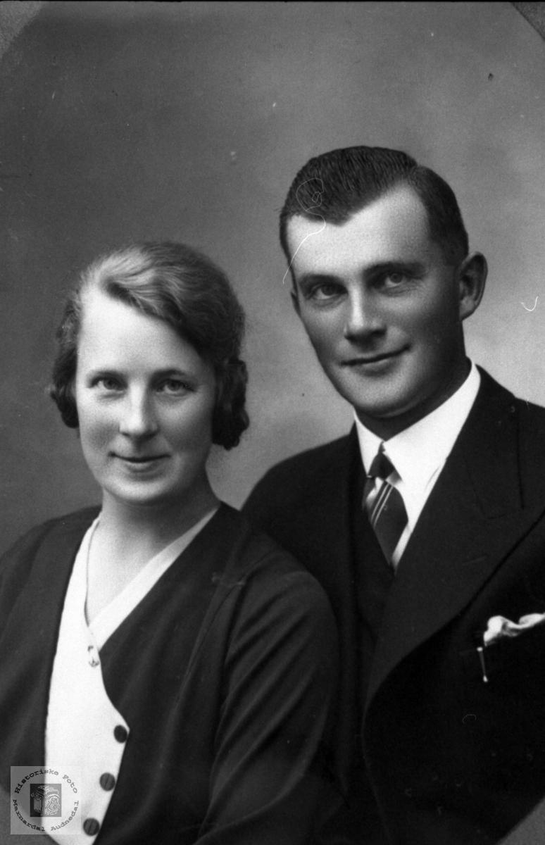 Ekteparet Anna og Sigvald Egeland