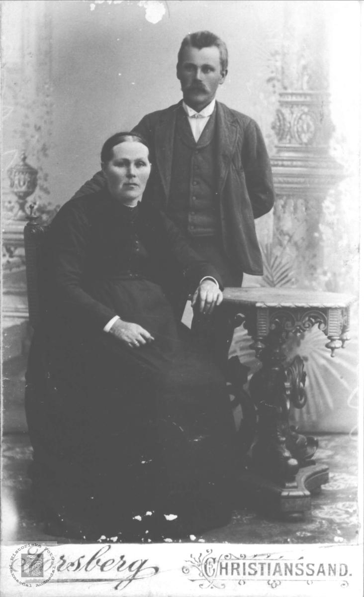 Portrett av Anna og Hans Fuglestveit, Øyslebø.