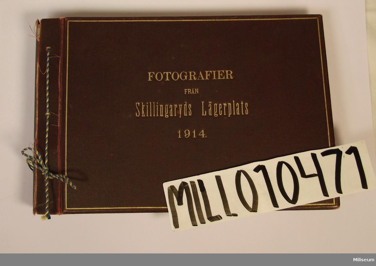Fotoalbum, Fotografier från Skillingaryds Lägerplats 1914