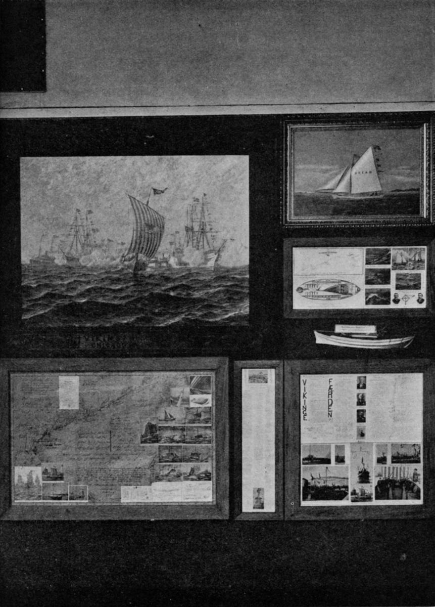 Fra Vikings amerikaferd. - Jubileumsutstillingen på Frogner 1914.