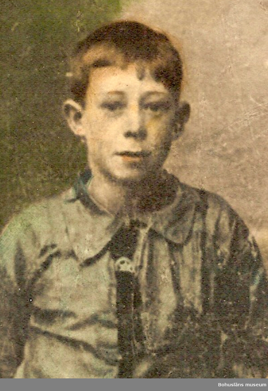Karl Artur Eriksson, barnbarn till cirkusdirektör Ingeborg Eriksson Eisfeldt, som uppträdde på Cirkus Leonard i Strömstad 1914. Privat foto.