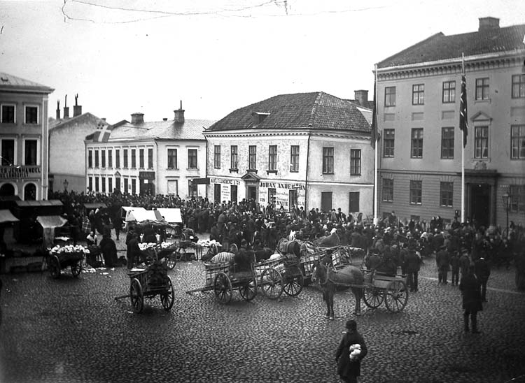 Torget i Uddevalla 1894.