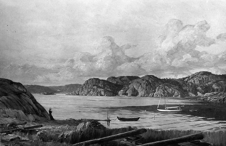 Gustafsberg 1903. Oljemålning utförd av Wilhelm Dahlbom (1855 - 1928)