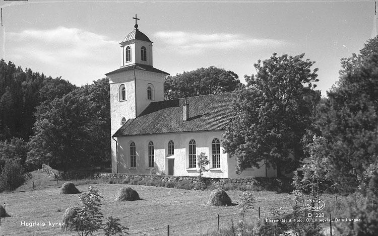 """Enligt AB Flygtrafik Bengtsfors: """"Hogdals kyrka Bohuslän"""".           ::"""