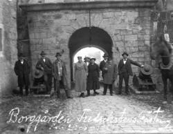 """""""Borggården Fredrikstens fästning den 29-8-1921."""""""