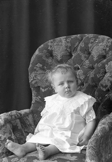 """Enligt fotografens journal nr 2 1909-1915: """"Andersson, Albin Myggenäs Hjälteby""""."""