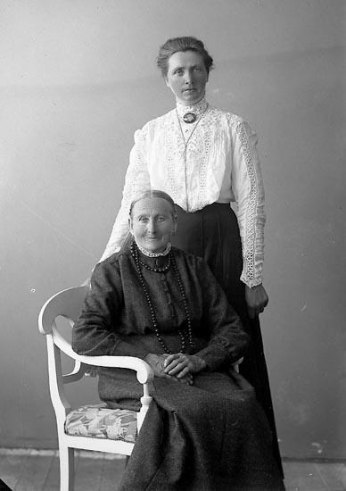 "Enligt fotografens journal nr 4 1918-1922: ""Andersson, Magdalena Alma Tångeröd, Höviksnäs"".  Enligt fotografens notering: ""Alma Andersson Tångeröd Höviksnäs""."