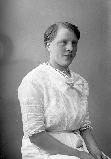"""Enligt fotografens journal nr 4 1918-1922: """"Johansson, Elin Kyrkenorum, Här""""."""