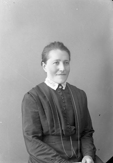 """Enligt fotografens journal nr 4 1918-1922: """"Andersson, Hilma Gröteröd Här""""."""