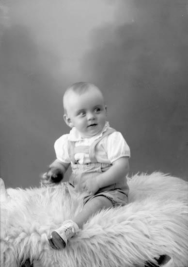 """Enligt fotografens journal nr 7 1944-1950: """"Larsson, Ingemar Änghagen Svanesund""""."""