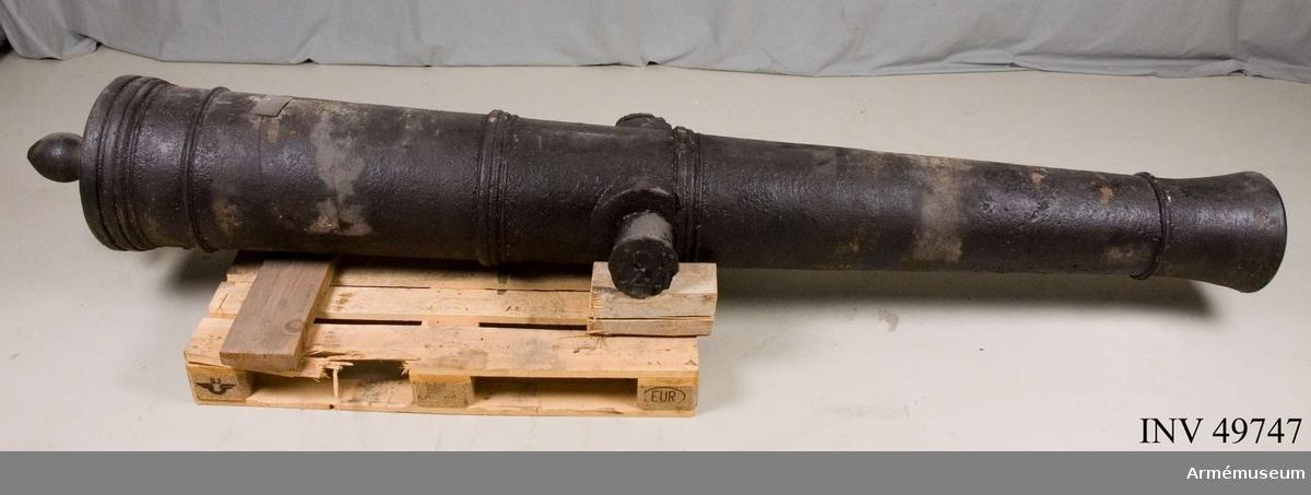 Grupp F I.  Kapten F A Spaks katalog 1888: 1725 års (Cronstedts) artillerisystem.