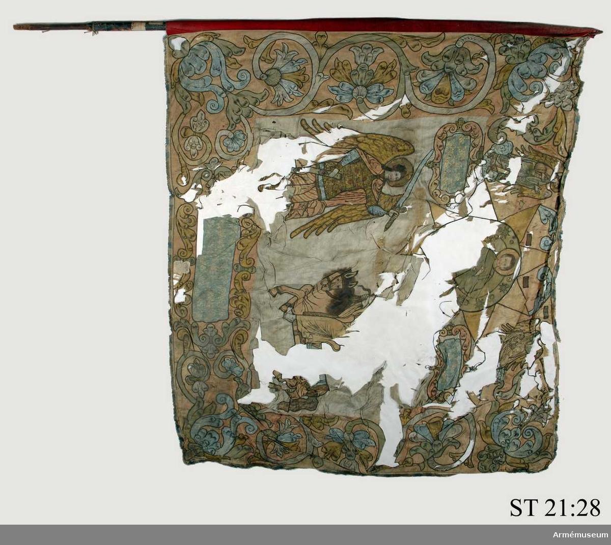 Fanans motiv föreställer Bileam och hans talande åsna.
