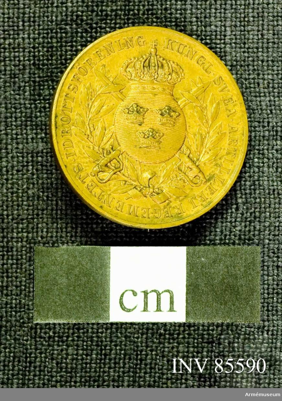 Grupp M. Medaljen lika med n:16279 med den skillnad, att materialet är ljus brons.