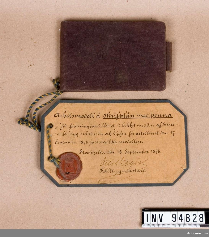 Skrivplån med penna m/1896