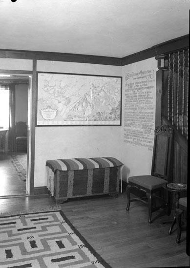 Interiör från huvudbyggnadens nedre hall på Morlanda Säteri