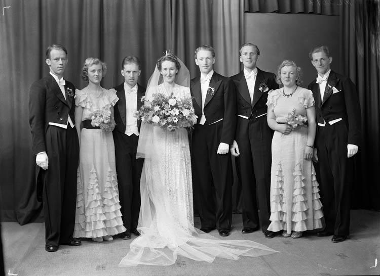Brudparet  Karl Wilhelm Eriksson och Mary Thorburn Eriksson