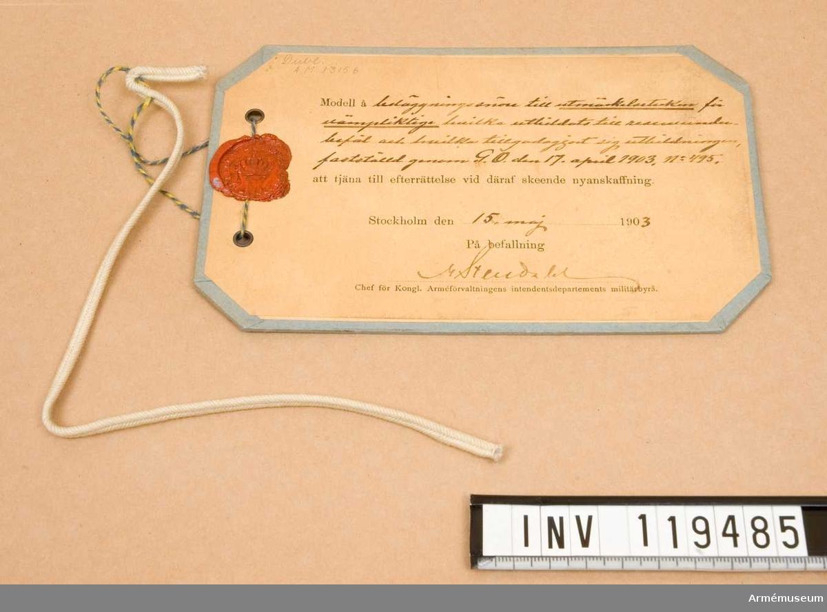 Beläggningssnöre m/1903