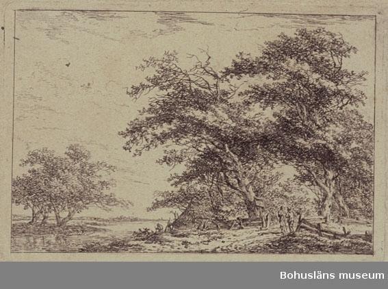 Ur handskrivna katalogen 1957-1958: Femton mindre gravyrer Landskapsbilder av Antoni Waterlo, G. Adam m. fl. H. fr. 7,5 till 20 cm. Br. fr. 8 till 34 cm. Ej inramade.