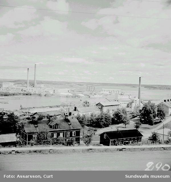 Vy över Skönviks och Östrands industrier.
