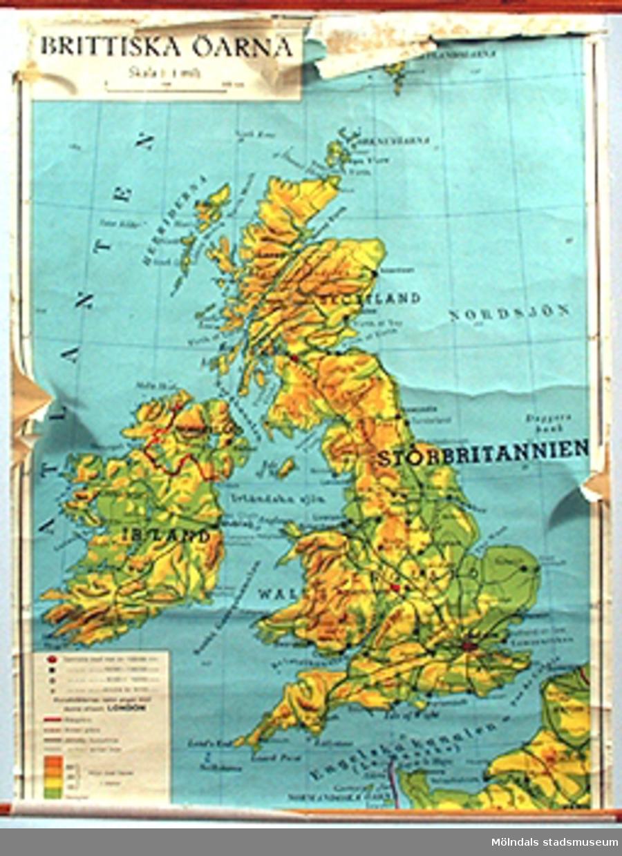Skolkarta märkt nr 38.Brittiska öarna.