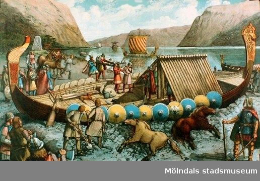 Historia.Gravsättning under vikingatiden.